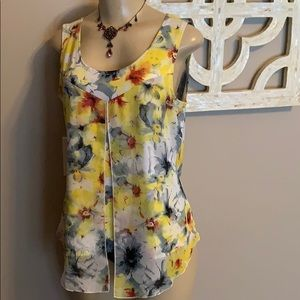 Notations petite med tunic flowing tank top floral